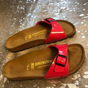 Birkenstock Madrid Sandals Hot Pink Patent Leather